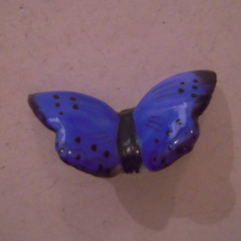 1936-04-4/5 German Mutter & Kind donation pin. Butterflies - Large Blue. Porcelain 33x19mm T009 (15599)