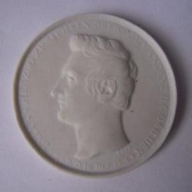 1831 Dresden , Johann Herzog zu Sachsen. Max. 200 Stück produziert !!! Meissen Porzellan 42mm Sch1259n - R !!! (15929)