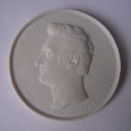 1831 Dresden , Johann Herzog zu Sachsen. Max. 200 pcs made !!! Meissen Porcelain 42mm Sch1259n - R !!! (15929)