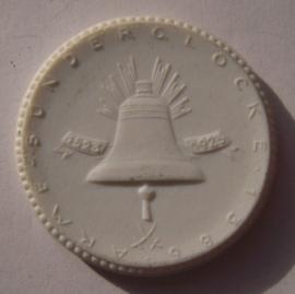 1923 Breslau / Wroclaw (POL) , Poor Sinner's Bell donation - Martin Luther. Max. 500 pcs made !!! Meissen Porcelain 40mm Sch691n - VIII (14848)