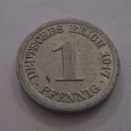 German Empire - 1 Pfennig 1917 A. Al J300/KM24 (11189)