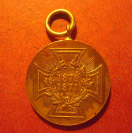 1871 Prussia , War Commemorative Medal of 1870/71 for combatants. Bronze (10262)