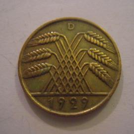 Weimarer Republik - 10 Reichspfennig 1929 D. CuAl J317/KM40 (15238)