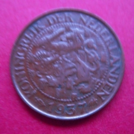 Wilhelmina - 1 Cent 1937. Bronze KM152 (3948)