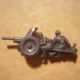 1941-03-22/23 German WHW donation gift. Armed Forces components - Anti-tank gun. Trolitul T384 (12799)