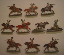 1815 Austrian cuirassiers , 10x flat 30mm scale.  Sima Figuren !!! (15371)