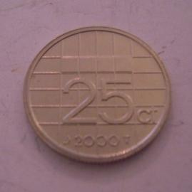 Beatrix - 25 Cent 2000 Unc     KM204 (14314)