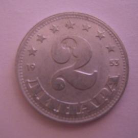 Socialist Federal Republic of Yugoslavia , 2 Dinara 1953. Al KM53 (15269)