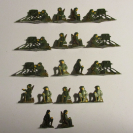 1920's - WWII German infantry , Maxim machine gun unit , 19x flat 30mm scale. Heinrichsen - Nürnberg (16426)