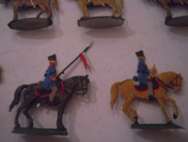 1814  Prussian uhlans , 10x flat 30mm scale. Wagner (15535)