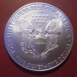 USA , 1 Silver Eagle Dollar 2009 , 1 Oz . Fine silver.      KM273 (11374)