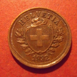 1 Rappen 1932 B      KM3.2 (11864)