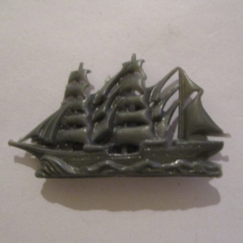 "1941-03-22/23 German WHW donation gift. Armed Forces components -  ""Gorch Fock"" marine school ship. Trolitul 42x25mm T389 (16306)"