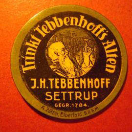 Settrup - J.H.Tebbenhoff  , 10 Pfennig stamp in capsule .      M23420.06 (8708)