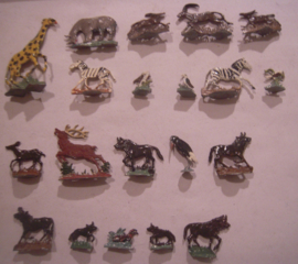 Wild life animals Africa + Europe, 20x  flat 30mm scale (16169)
