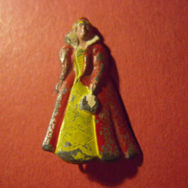 Gau Wien / Vienna 1942 WHW donation pin. History of fashion -  1660 - 1700. Zinc T030 (6979)