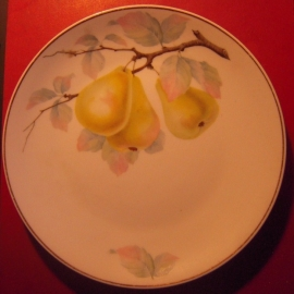 1920's Hand painted fruit plate, 21,8cm. Rosenthal - Selb - Germany (11825)