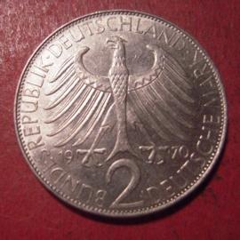 Germany - BRD - 2 Mark 1970 J - Max Planck      J392/KM116 (12565)