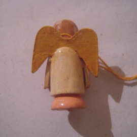 1939-12-16/17 German WHW donation gift. Puppets with stuck Arms - Angel. Wooden colorful hand painted  T233 (16183)