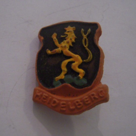 Gau Baden Alsace 1940's WHW donation pin. Coat of arms cities Baden - Alsace - Heidelberg. Ceramic T080 (14747)