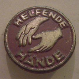 1930/40's ? German WHW donation pin , Gau ? Helping hands. Metal (14023)