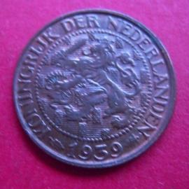 Wilhelmina - 1 Cent 1939. Unc !!! Bronze KM152  (3950)