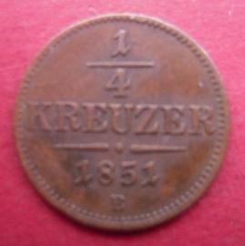 Franz Joseph I , ¼ Kreuzer 1851 B        ANK1/KM2180 (6638)
