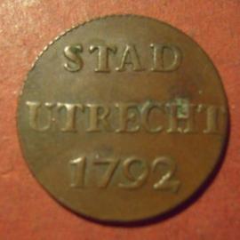 Utrecht - city , 1 Duit 1792      Su20/KM91/V.116.6 (12026)