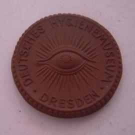 1930 Dresden , Deutsches Hygienemuseum. Meissen Porzellan 25mm Sch1354a - VII (14529)