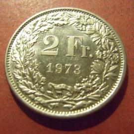 2 Franken 1973      KM21a (11995)