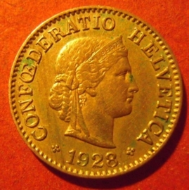 5 Rappen 1928 B      KM26 (11894)
