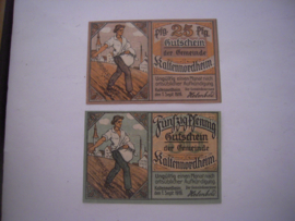 Kaltennordheim , 25 + 50 Pfennig 1919.  (16043)