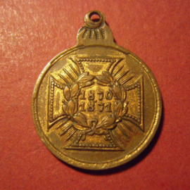 1871 Prussian War Commemorative Medal combatants1870/71 miniature Cu 19mm (8052)