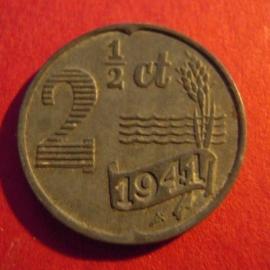 German occupation - 2½ Cent 1941. Zn KM171 (3972)