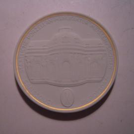 1992 A Meissen , City Thaler - Sanssouci , Potsdam. Gilded inner circle !!! Meisen Porcelain 64mm W10.219.2.1.5 - V (14795)