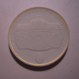 1992 A Meissen , Städte-Thaler - Sanssouci Potsdam. Goldfaden am Rand !!! Meisen Porzellan 64mm W10.219.2.1.5 - V (14795)