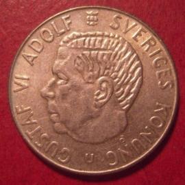 Gustaf VI Adolf , 1 Krona 1962 U     KM826 (12590)