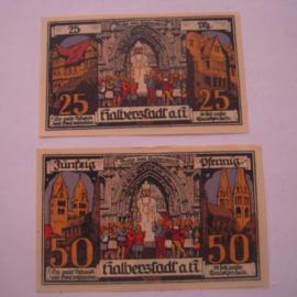 Halberstadt , 25 + 50 Pfennig 1921. GM504.3 (16033)