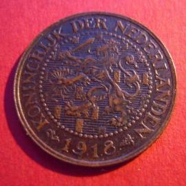Wilhelmina - 2½ Cent 1918. Xf !!! Bronze KM150 (3969)