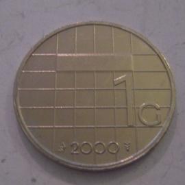 Beatrix - 1 Gulden 2000. Unc !!! KM205 (14315)