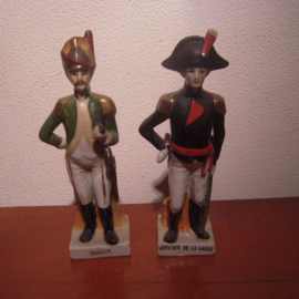 French officer of the Garde + dragoon 1810. French porcelain unmarked 21x6x6 cm early 20th century (11336)