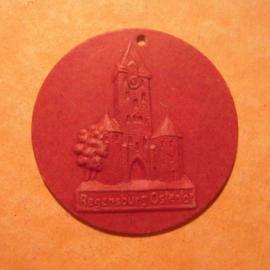 1942-06-27/28 German Red Cross donation gift. Regensburg - Ostentor. Fibreboard T237  (13057)