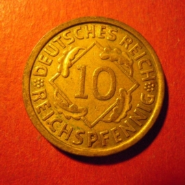 Weimar Republic - 10 Reichspfennig 1932 A.  CuAl J317/KM40 (7080)