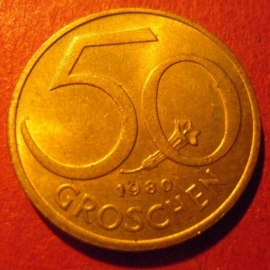 50 Groschen 1980      ANK018/KM2885 (7404)