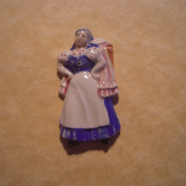 Gau Wien / Vienna 1940 WHW donation gift. Vienna types - Laundry woman. Porcelain T014 (12855)