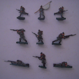 1914 German infantry WWI , 9x flat 20mm scale (15253)