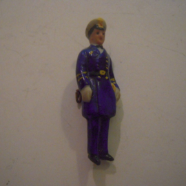 1938-03-5/6 German WHW donation pin. Armed Forces - Naval officer. Porcelain 48mm T118 (15045)