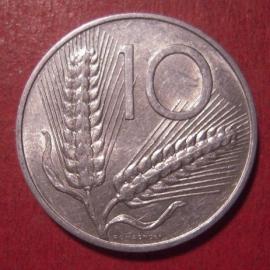 Italian Republic , 10 Lire 1973      KM93 (12564)