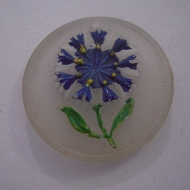 1939-6-24/25 Association German culture abroad (VDA) , Germans abroad - Cornflower round , colourfull. Frosted glass  T115 (14219)