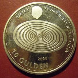Beatrix - 10 Gulden 1999 - Millennium. Silver !!  KM228 (7372)